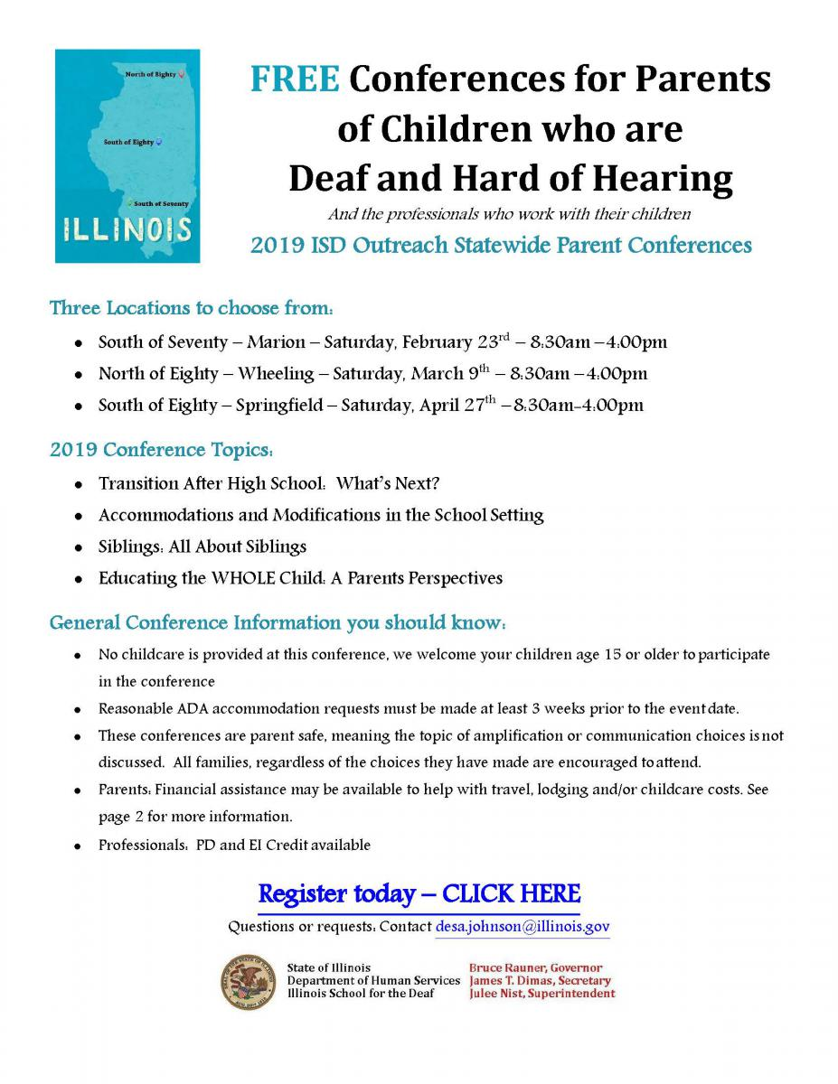 Conference For Parents Saturday April >> Free Conference For Parents Of Children Who Are Deaf And Hard Of